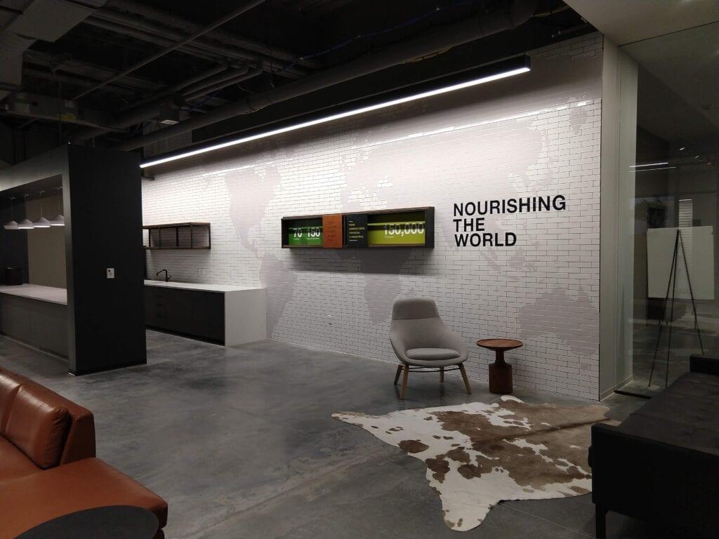 Cargill Nourish the World Wall Vinyl Acrylic letters Fabricated Box