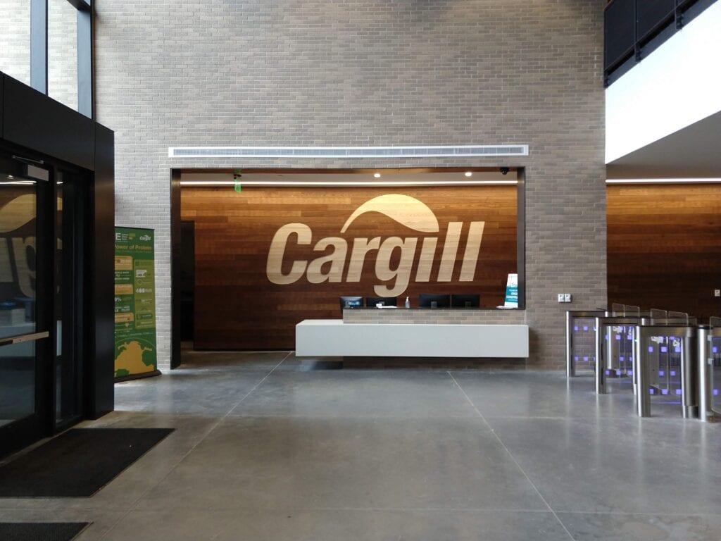 Cargill Routed Cargill Logo Wood Wall