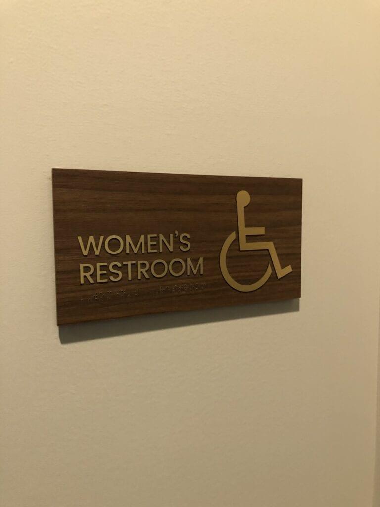 Harper ADA Restroom Sign