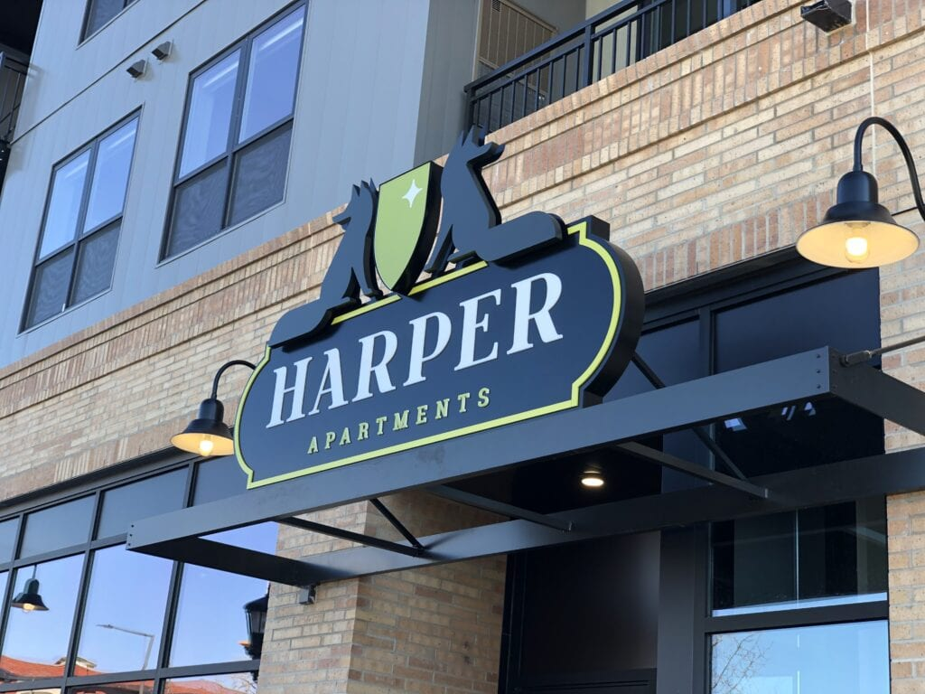Harper Exterior Canopy Lit Sign