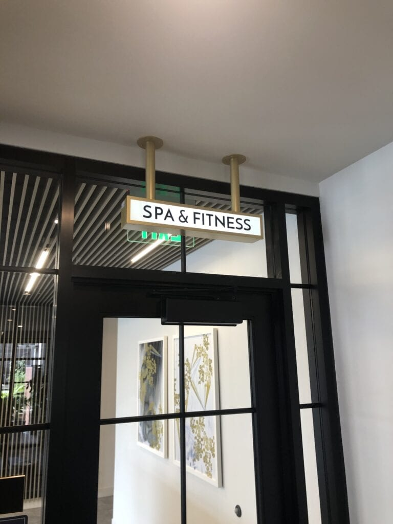 Interior Lit Amenity Cabinet SPA FITNESS