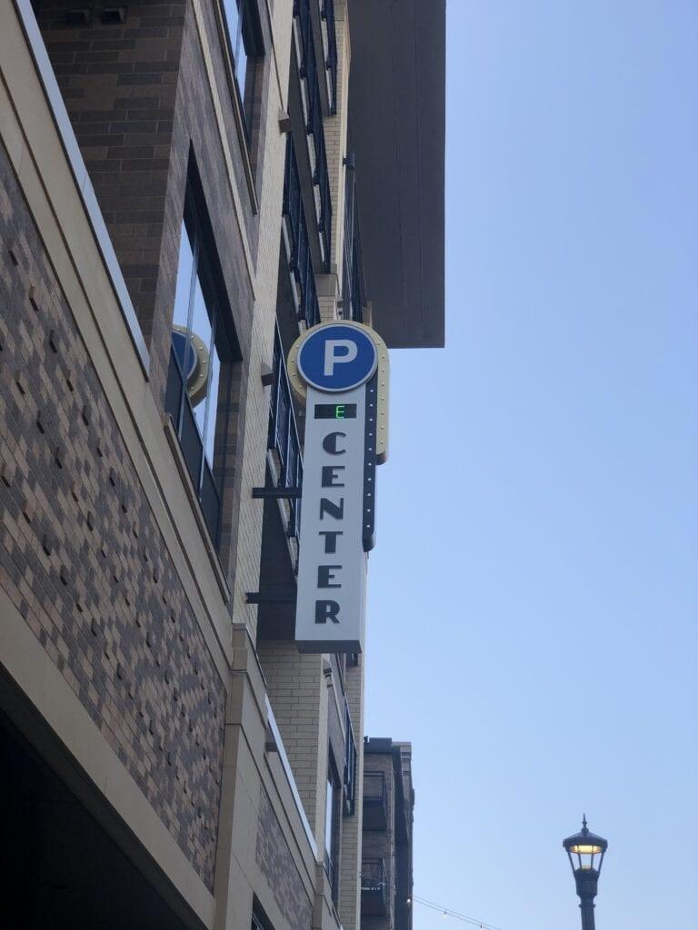 Lit Parking Garage